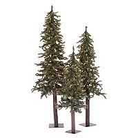 Vickerman Natural Alpine Multi-Color Pre-Lit Christmas Tree Set