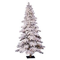 Vickerman 4-ft. Pre-Lit Flocked Spruce Artificial Christmas Tree