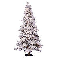 Vickerman 5-ft. Pre-Lit Flocked Spruce Artificial Christmas Tree