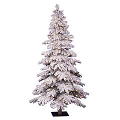 Vickerman 5-ft. Pre-Lit Flocked Spruce Artificial Christmas Tree