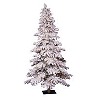 Vickerman 6-ft. Pre-Lit Flocked Spruce Artificial Christmas Tree