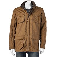 Men's Urban Republic Sherpa-Lined Twill Jacket