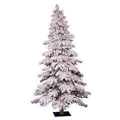 Vickerman 7-ft. Pre-Lit Flocked Spruce Artificial Christmas Tree