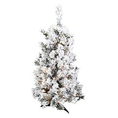 Vickerman 36-in. Flocked Alaskan Pine Artificial Christmas Tree