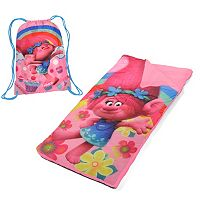 Girls DreamWorks Trolls Poppy Drawstring Sling Bag & Sleeping Bag Set