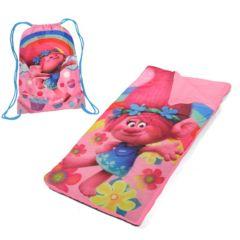 Girls DreamWorks Trolls Poppy Drawstring Sling Bag & Sleeping Bag Set
