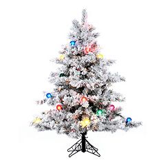 Vickerman 4.5-ft. Pre-Lit Flocked Alaskan Pine Artificial Christmas Tree