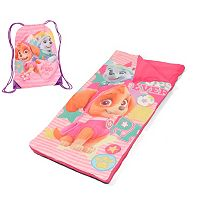 Girls Paw Patrol Skye & Everest Drawstring Sling Bag & Sleeping Bag Set