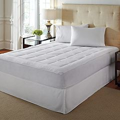 Hotel Laundry Over-Filled Microplush Mattress Pad