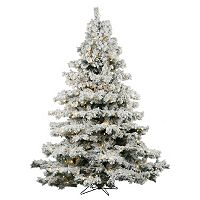 Vickerman 6.5-ft. Warm White Pre-Lit Flocked Alaskan Pine Artificial Christmas Tree