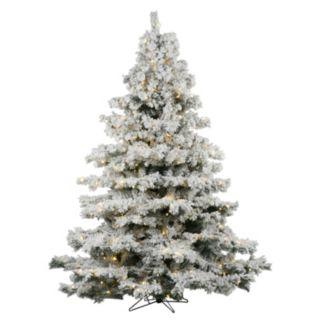 Vickerman 6.5-ft. Warm White Pre-Lit Flocked Alaskan Pine Artificial Christmas Tree