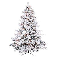 Vickerman 6.5-ft. Multicolor Pre-Lit Flocked Alaskan Pine Artificial Christmas Tree