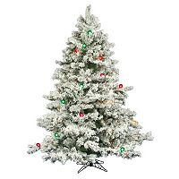 Vickerman 6.5-ft. Multicolor LED Pre-Lit Flocked Alaskan Pine Artificial Christmas Tree