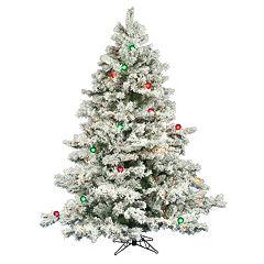 Vickerman 6.5-ft. Multicolor LED Pre-Lit Flocked Alaskan Pine Artificial Christmas Tree