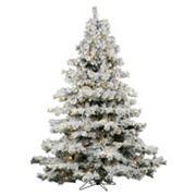 Vickerman 7.5-ft. Warm White Pre-Lit Flocked Alaskan Pine Artificial Christmas Tree
