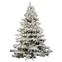 Vickerman 7.5-ft. Warm White Pre-Lit Flocked Alaskan Pine Artificial Christmas Tree