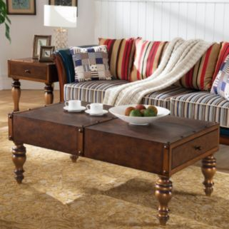 Leick Furniture Vintage Trunk Coffee Table