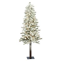 Vickerman 4-ft. Clear Pre-Lit Flocked Alpine Artificial Christmas Tree