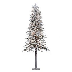 Vickerman 6-ft. Clear Pre-Lit Flocked Alpine Artificial Christmas Tree