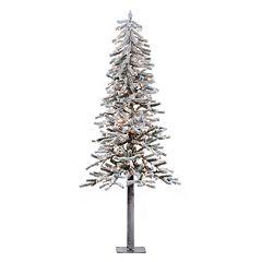 Vickerman 6-ft. Clear Pre-Lit Flocked Alpine Artificial Christmas Tree