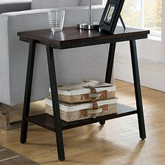 Leick Furniture Narrow Chairside End Table