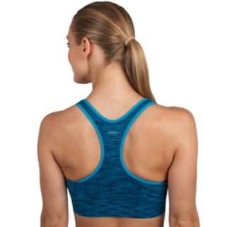 Jockey Sports Bra: Space Dye Seamless Plunge Medium-Impact 8998
