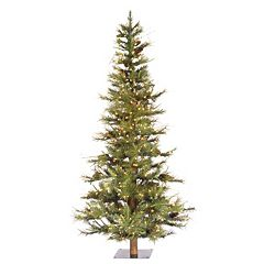 Vickerman 5-ft. Clear Pre-Lit Pinecone Ashland Artificial Christmas Tree