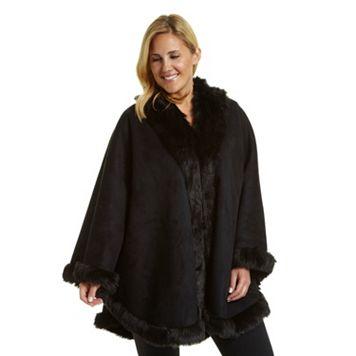 Plus Size Excelled Cape Coat