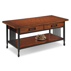 Leick Furniture 2-Drawer Mission Coffee Table