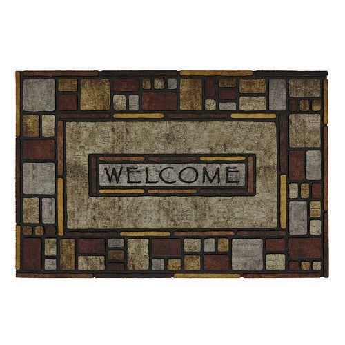 Mohawk® Home Silvia Stone Blocks ''Welcome'' Doormat