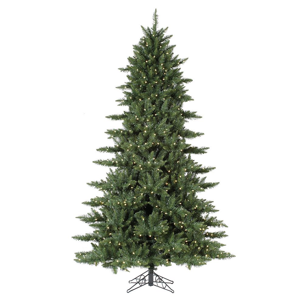 8 5 Ft Warm White Pre Lit Camden Fir Slim Artificial Christmas Tree - Vickerman Pre Lit Christmas Trees