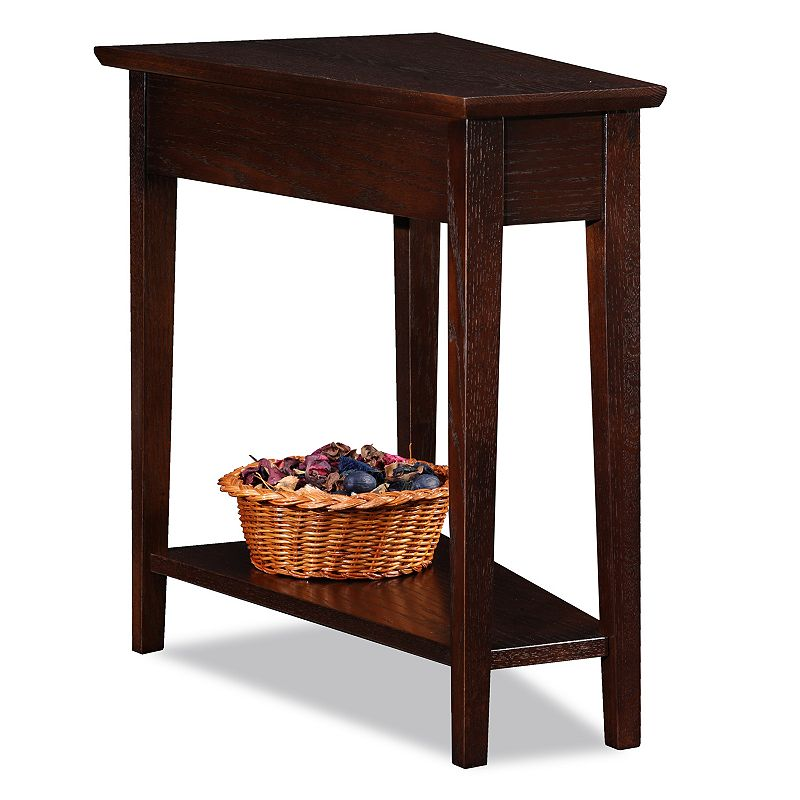 Leick Furniture Wedge End Table, Brown Leick Furniture Wedge End Table, Brown Gender: unisex. Age Group: adult.