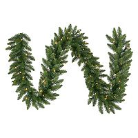 Vickerman 9-ft. Clear Pre-Lit Camden Fir Artificial Christmas Garland