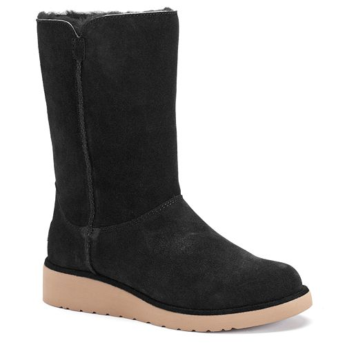 UGG CLASSIC SHORT SCALES - Classic ankle boots - black