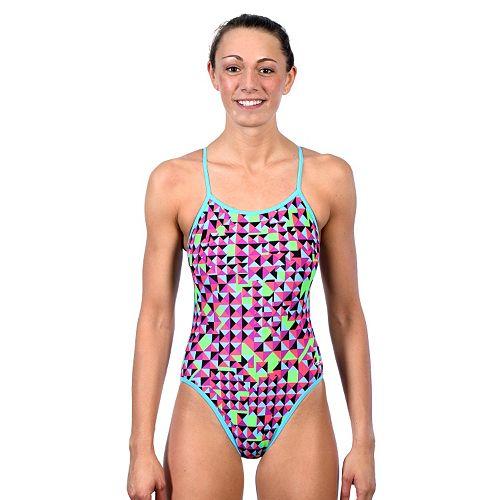 4073ea2622615 Women's Dolfin Reversible String-Back One-Piece Swimsuit
