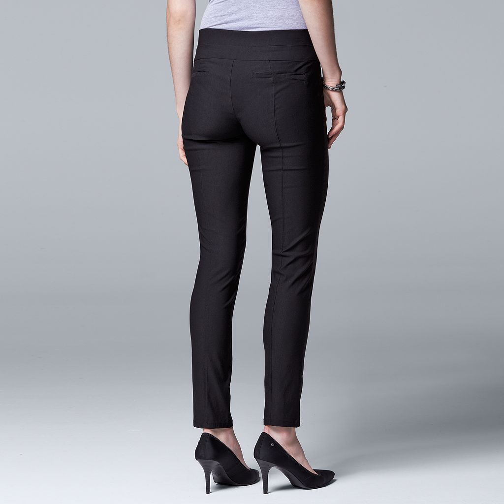 Women's Simply Vera Vera Wang Twill Panel Pull On Pants