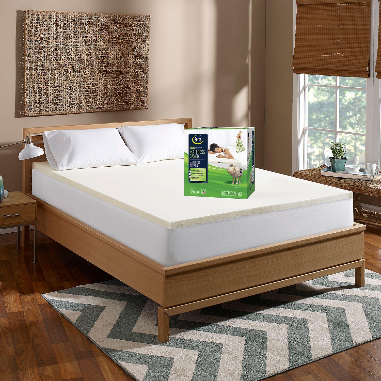 serta mattress saver 15inch memory foam mattress topper
