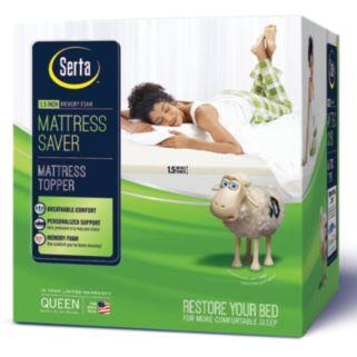 Serta 1.5-inch Mattress Saver Memory Foam Mattress Topper