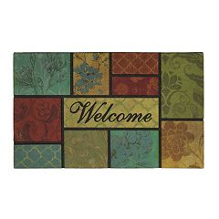 Mohawk® Home Barcelona Block ''Welcome'' Doormat - 18'' x 30''