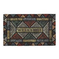 Mohawk® Home Carved Elegance Geometric ''Welcome'' Doormat - 18'' x 30''