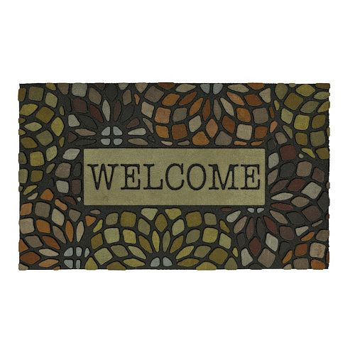 Mohawk® Home Tile Circles Geometric ''Welcome'' Doormat - 18'' x 30''