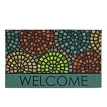 Mohawk® Home Tile Spiral Geometric ''Welcome'' Doormat - 18'' x 30''