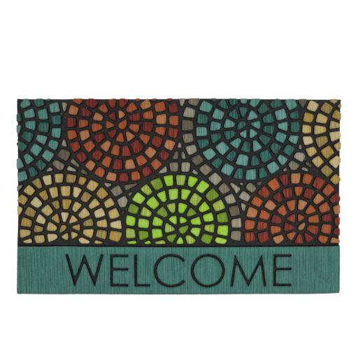 Mohawk® Home Tile Spiral Geometric ''Welcome'' Doormat - 18'' x 30''