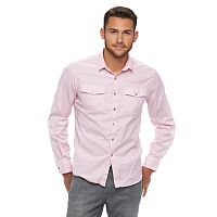 Men's Marc Anthony Slim-Fit Textured Stretch Button-Down Shirt
