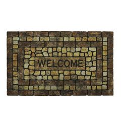 Mohawk® Home Stone Garden ''Welcome'' Doormat - 18'' x 30''