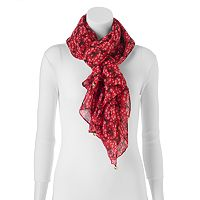 Reindeer, Snowflake & Jingle Bell Oblong Scarf