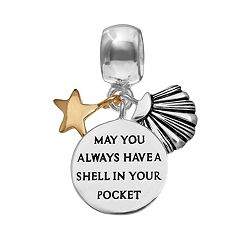 Individuality Beads Sterling Silver 'Shell in Your Pocket' Charm