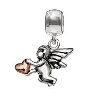 Individuality Beads Sterling Silver Cupid & Heart Charm
