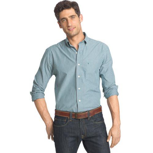 Men's IZOD Striped Button-Down Shirt