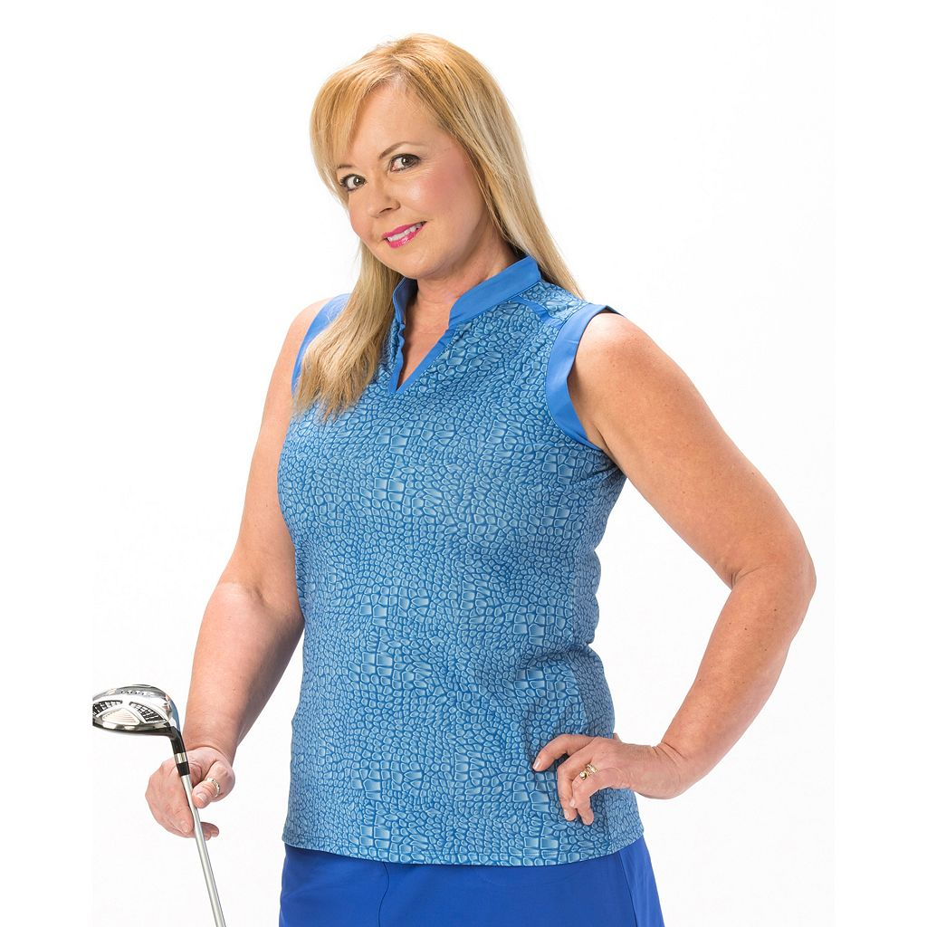 Plus Size Nancy Lopez Sing Sleeveless Golf Polo